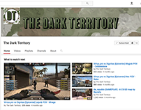 Youtube logo and cover art for 'The Dark Territory'