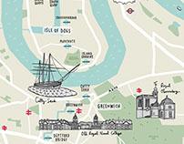 Royal Albert Wharf Map