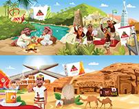 Al Rabea Tea Mural