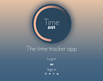Adobe XD Daily Creative Challenge #6 - Time tracker app
