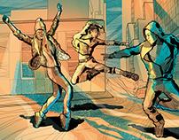 illustration street dances