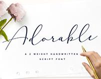 Adorable Handwritten Script Font