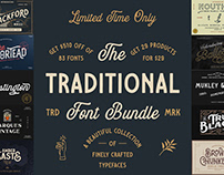 THE TRADITIONAL FONT BUNDLE - $500 OFF!
