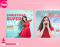 Christmas Social Media PSD-Template Set