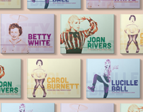 Female Pioneers of Comedy: Book Design