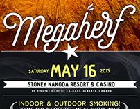 MegaHerf Branding & Poster