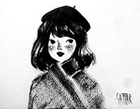 Retro noir ink