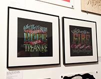 Swash & Serif 2016 Art Show Exhibit