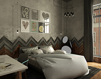 Moscow Loft . Bachelor bedroom