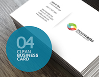 4 Clean Business Cards
