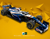 F1 Re-imagined: 2018 Williams FW18 Concept Livery