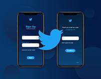 Twitter App Sign Up #DailyUI