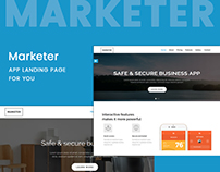 Marketer is an APP Landing page