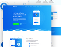 Union Bank- App Landing Page Design Concept