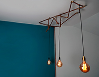 Copper Ceiling Light