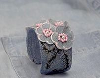 DENIM JEWELRY Bracelet cuffs