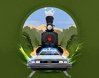 Back To The Future - art print