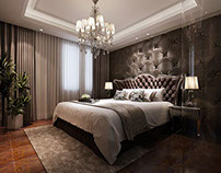 Interior renderings--Living room designs&Bedroom design