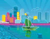 Boston Harbor Illustration, MHE-Everyday Mathematics