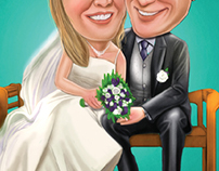 Caricature Wedding - Digital Painting