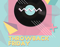 Throwback Friday Party Flyer Template