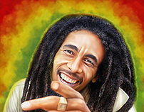Bob Marley Digital Art by Wayne Flint