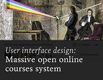 Massive open online courses system