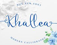 Free Khallea Handwritten Font
