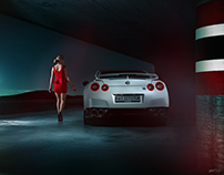 Nissan GT-R | Lady in red