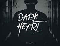 DarkHeart - Brush Font