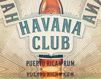 Havana Club Miami anniversary event display