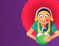 South Indian illustration
