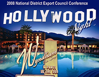 Hollywood Night Poster