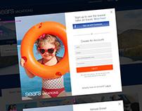 Sears Vacations Social Login/Dual Modal