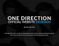 One Direction Official Website Redesign