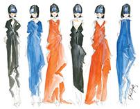 watercolor fashion sketches