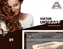 Hairdressing trainer Viktor Uksusoff