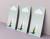 Paper art illustration – christmas cards
