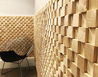 4 by 4 block paneling for Het PR Bureau