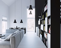 interior black house_lublin_poland