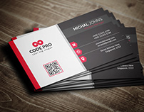 Modern business card Free Vector