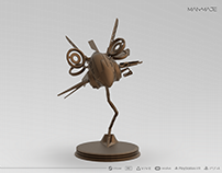 3D Drone Statue Modelling for ManMade VR Game Project