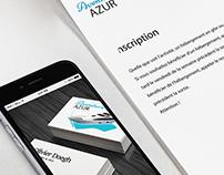 Logo and branding for Aventure Azur.