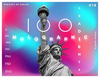 100 HOLOGRAPHIC GRADIENTS
