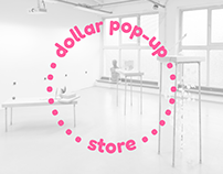 The dollar pop-up store, bachelor thesis display