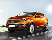 Kia Sportage. KV, prints for advertising campaign
