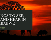 Things to See, Do and Hear in Zimbabwe - Shane Krider