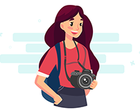 Illustrations : GIRL AND HER INTERESTS :)