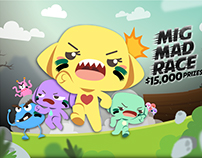 mig.me, mig Mad Race – Web Banners and Ads