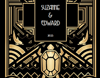 Australia Art Deco Wedding Invitations
